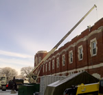 Thumbnail image of roof work at Minto Armoury